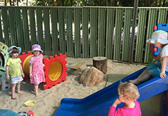 Kids playing in the playground at Broome Day Care