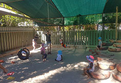 Kids playing in the sandpit at Broome Day Care